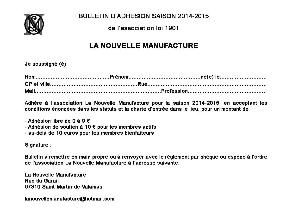 La nouvelle manufacture association - La manufacture nouvelle ...