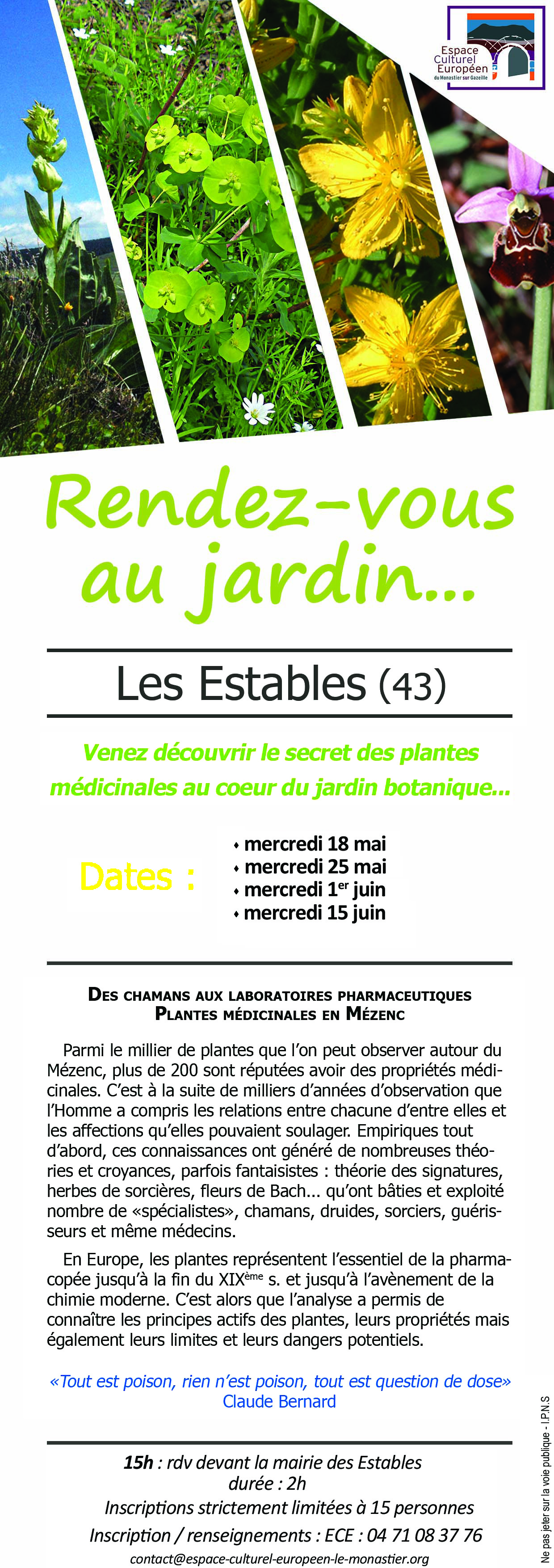 Lettre d 39 information n 87 du 13 mai 2016 for Au jardin secret de tadine